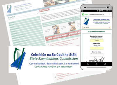 State Examination Commission Website development & mobile app development